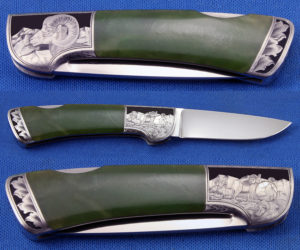 TMD Jade Lockback Engraved Image